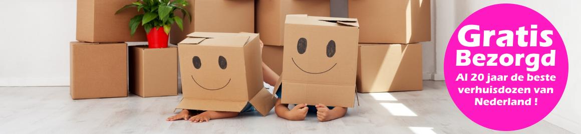 Gratis verhuisdozen levering binnen Nederland. Verhuisdozen, noppenfolie, inpakpapier en nog veel meer.