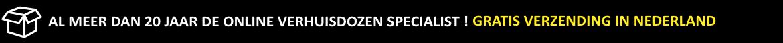 De Verhuisdozen Express is een webwinkel waar je snel en voordelig verhuisdozen en verhuismaterialen kunt bestellen